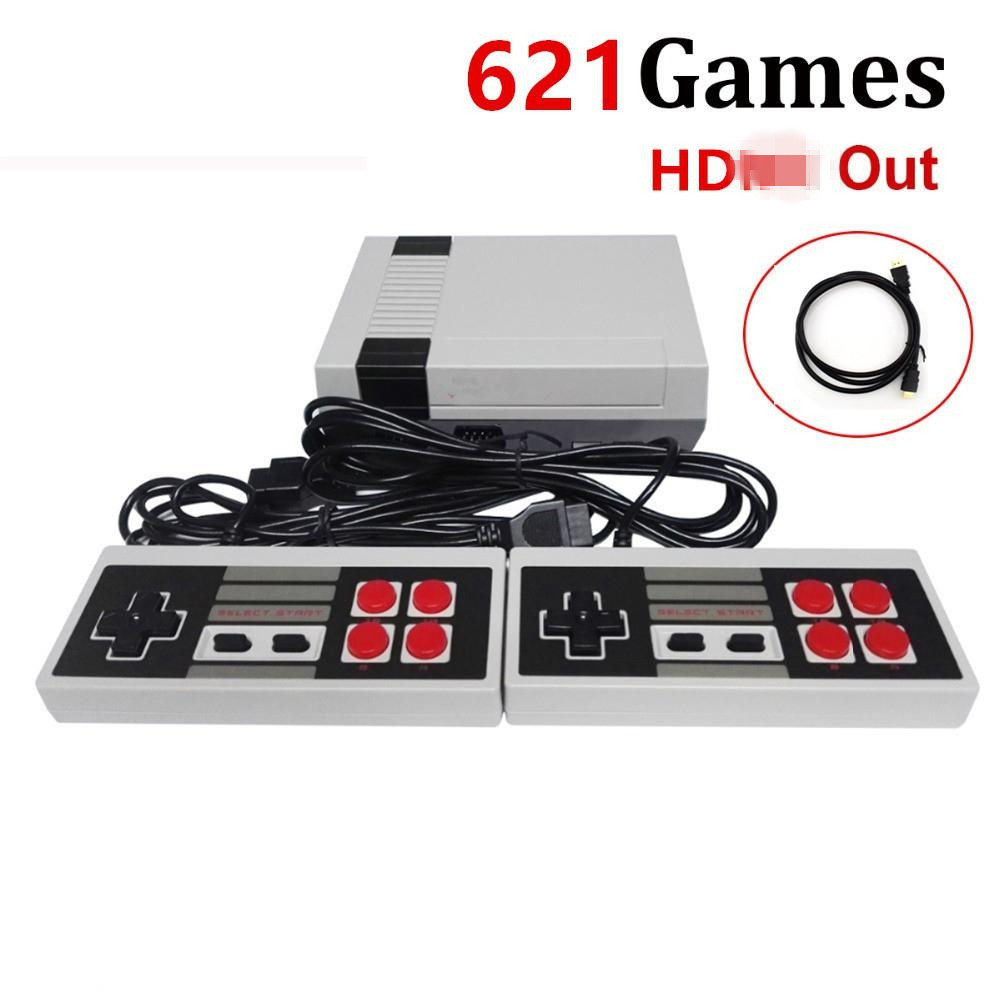 Build in 621 Games Console Family TV 8 bits Support HD Port TF Card Retro Video Game Console For PSP Games