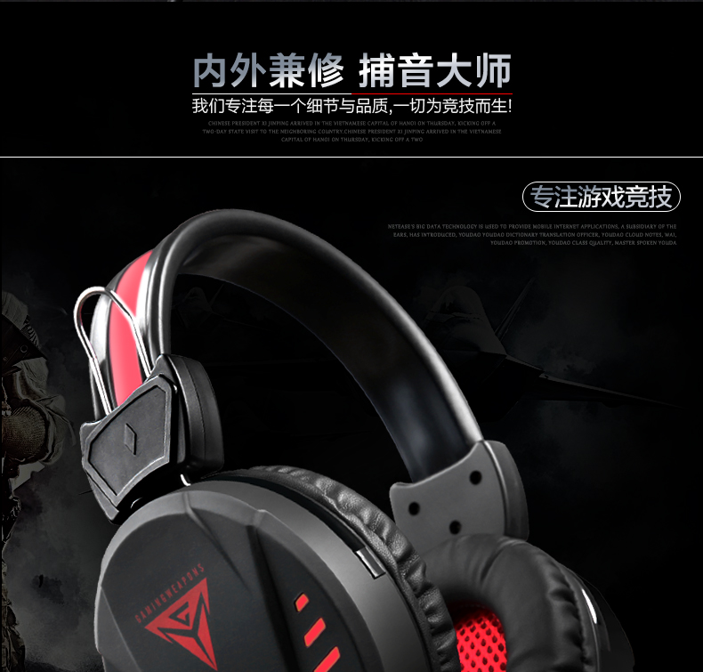 Wiisun A1 Wired Gaming Headphones With Mic LED Light Noise Reduction 3D Bass Gaming Headset For PS4