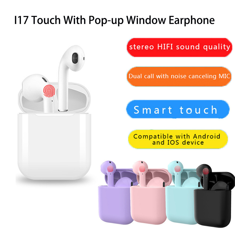 i17 TWS V5.0 Wireless Mini Earbuds Stereo Earphones Touch control With Pop-ups Window