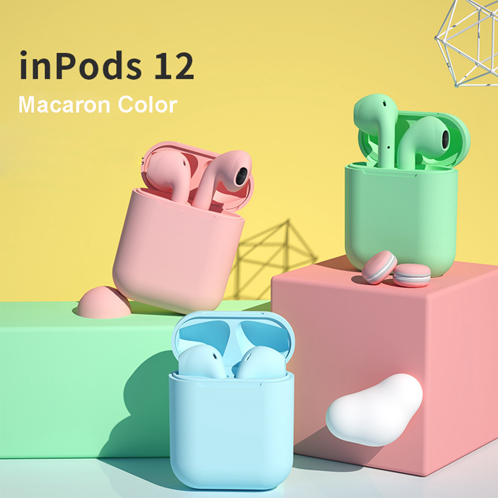 Macaroon inPods 12 true wireless stereo V5.0 earphone blue tooth earbuds